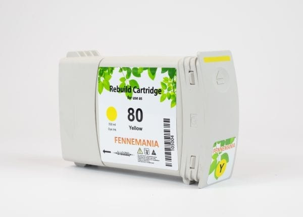 HP80 350-ml Yellow DesignJet Ink Cartridge(C4848A)