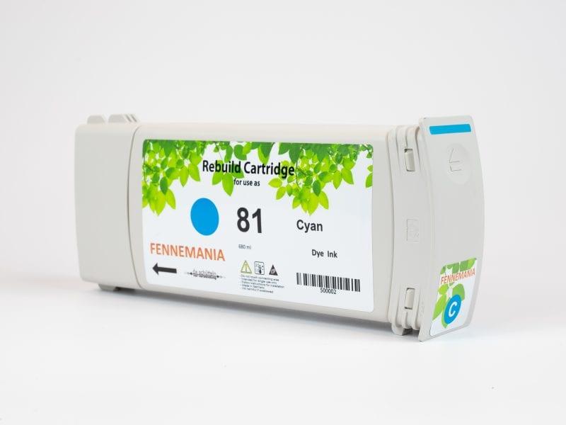 HP 81 680-ml Cyan DesignJet Dye Ink Cartridge(C4931A)