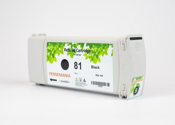 HP 81 680-ml Black DesignJet Dye Ink Cartridge(C4930A)