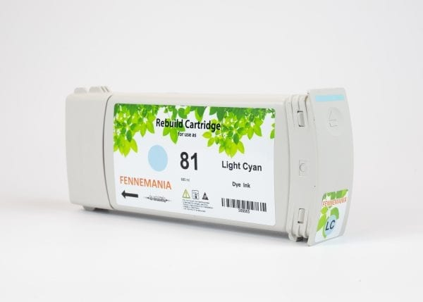 HP 81 680-ml Light Cyan DesignJet Dye Ink Cartridge(C4934A)