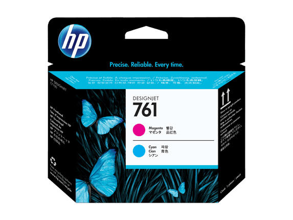 HP 761 Magenta/Cyan Designjet Printhead (CH646A)