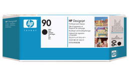 HP 90 Black Printhead and Printhead Cleaner C5054A