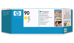 HP 90 Yellow Printhead and Printhead Cleaner C5057A