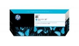 Genuine Light Cyan HP 81 Ink Cartridge - (C4934A)