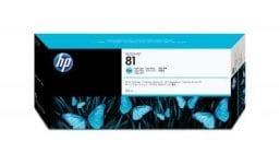 Genuine Light Cyan HP 81 Ink Cartridge - (C4934A)