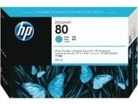 Genuine High Capacity Cyan HP 80 Ink Cartridge - (C4846A)