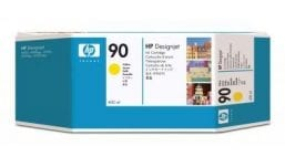 Genuine Yellow HP 90 Ink Cartridge - (C5064A)
