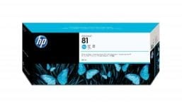 Genuine Cyan HP 81 Ink Cartridge - (C4931A)