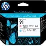 Testina di stampa magenta chiaro e ciano chiaro HP 91