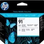 Testina di stampa nero e grigio chiaro fotografici HP 91